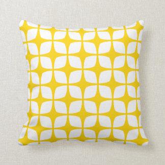 Modern Geometric Pillow in Freesia Yellow Throw Cushions