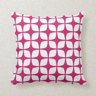 Modern Geometric Pillow in Fuchsia Red
