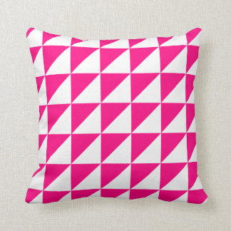 Modern Geometric Pillow in Hot Pink