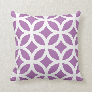 Modern Geometric Pillow in Radiant Orchid