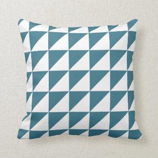 Modern Geometric Pillow in Teal Blue