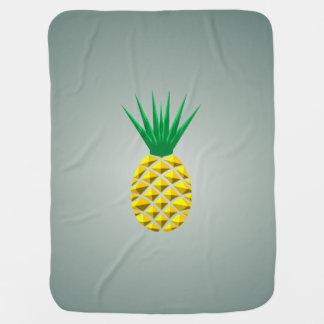 Modern Geometric Pineapple Baby Blanket
