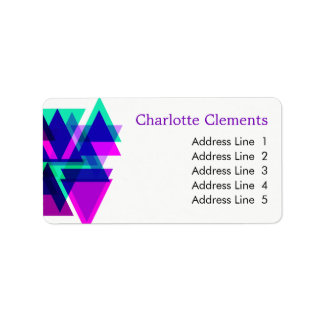 Modern Geometric Professional Colorful Striking Label