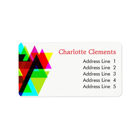Modern Geometric Professional Colourful Striking Label