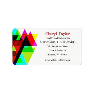 Modern Geometric Professional Photographer Address Label