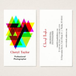 Modern Geometric Professional Photographer Business Card