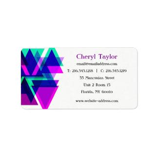 Modern Geometric Professional Realtor  Consultant Address Label