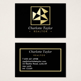 Modern Geometric Professional Realtor  Consultant Business Card