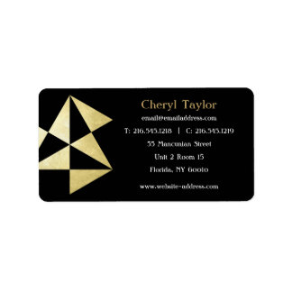 Modern Geometric Professional Realtor  Consultant Label
