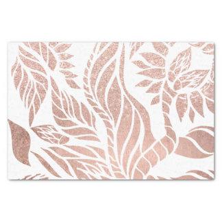 Modern geometric rose gold botanical hand drawn tissue paper