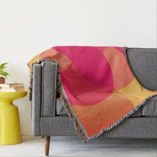 Modern Geometric sofa throw blanket, circle design