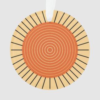 Modern Geometric Sunburst - Mandarin Orange Ornament