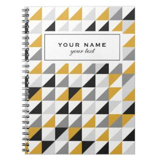 Modern Geometric Tirangle Pattern Notebook