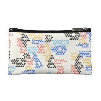 Modern Geometric Triangle - Cosmetics / Makeup Bag