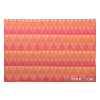 Modern Geometric Triangle Pattern Coral & Pink Art Placemat