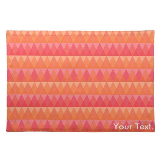 Modern Geometric Triangle Pattern Coral & Pink Art