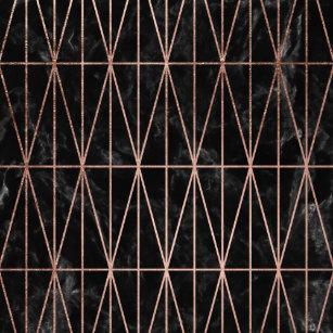 626aa1065 Modern geometric triangles rose gold black marble photo print