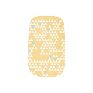 Modern Geometric Triangles - Yellow - Nail Art