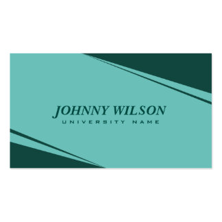 Modern Geometric Turquoise Graduate Student Pack Of Standard Business Cards