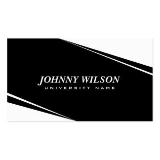 Modern Geometric White & Black Graduate Student Pack Of Standard Business Cards
