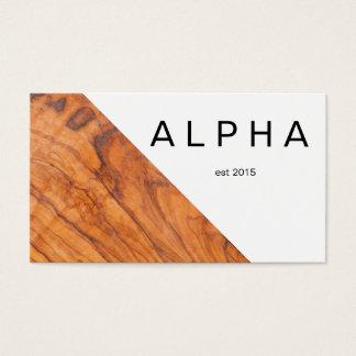 Modern Geometric Wood Grain Background Design Business Card
