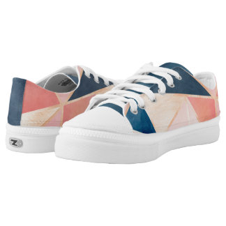 Modern Geometric ZipZ Tennis Shoes Printed Shoes