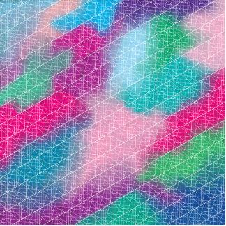 Modern geometrical pink pastel watercolor pattern standing photo sculpture