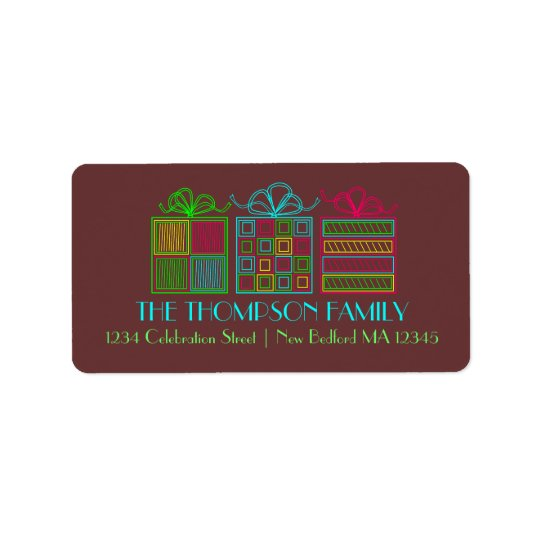 Modern Gift Holiday Address Labels