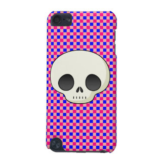 Modern Gingham (Blue N' Pink) Cutie Skull iPod Touch 5G Cover