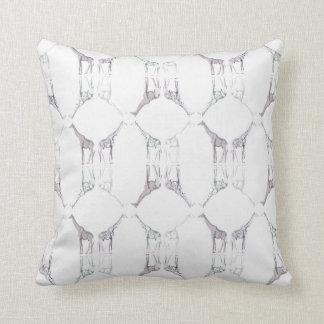 Modern Giraffe Diamond Cushion