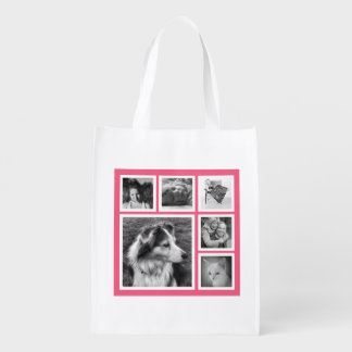 Modern Girl Six Instagram Photos on Pink Market Tote