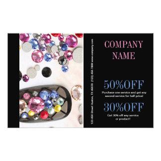 modern girly beauty fashion jewelry nail salon flyer
