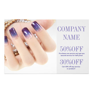 modern girly beauty onbre nail artist nail salon 14 cm x 21.5 cm flyer