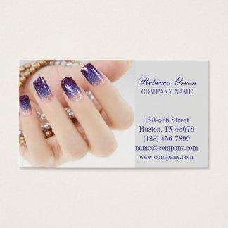 modern girly beauty onbre nail artist nail salon business card