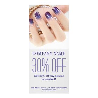 modern girly beauty onbre nail artist nail salon customized rack card