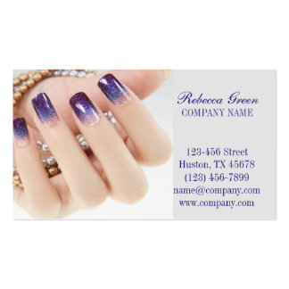 modern girly beauty onbre nail artist nail salon pack of standard business cards