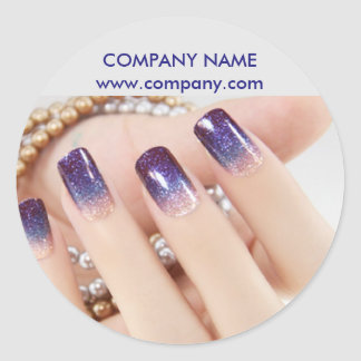 modern girly beauty onbre nail artist nail salon round sticker