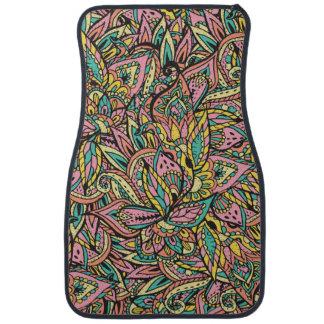 Modern girly boho botanical floral paisley pattern car mat