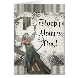 Modern girly fairy  mothers day card