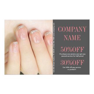 modern girly fashion beauty salon nail artist 14 cm x 21.5 cm flyer