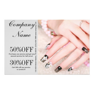 modern girly fashion beauty SPA salon nail salon 14 Cm X 21.5 Cm Flyer