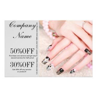 modern girly fashion beauty SPA salon nail salon Flyer