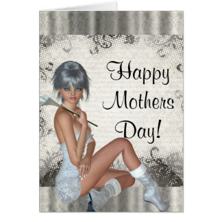 Modern girly mothers day card