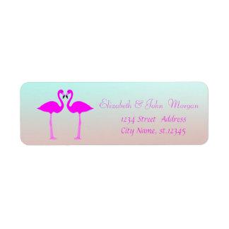 Modern Girly Stylish ,Pink Flamingos In Love