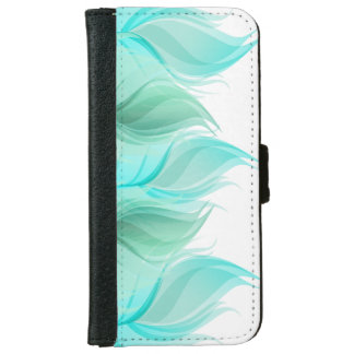 Modern Girly Watercolor Feathers iPhone 6 Wallet Case