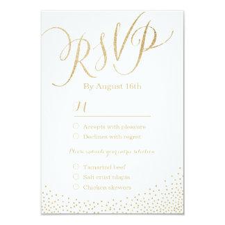 Modern glam faux gold glitter calligraphy RSVP 9 Cm X 13 Cm Invitation Card