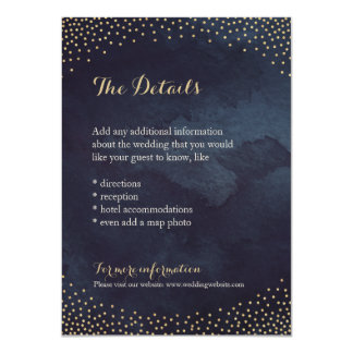 Modern glam night faux gold glitter detail card 11 cm x 16 cm invitation card