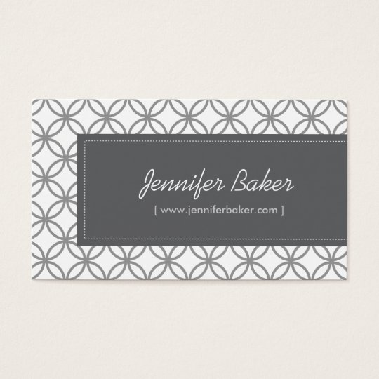 Modern Glamour Pattern for Designer/Boutique/Salon Business Card