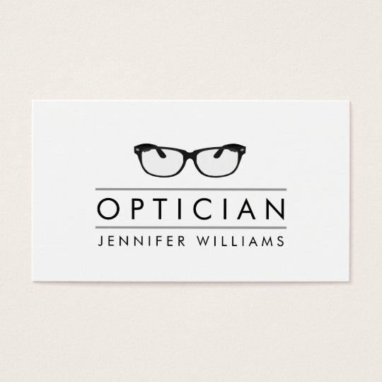 Modern Glasses Optician Business Card