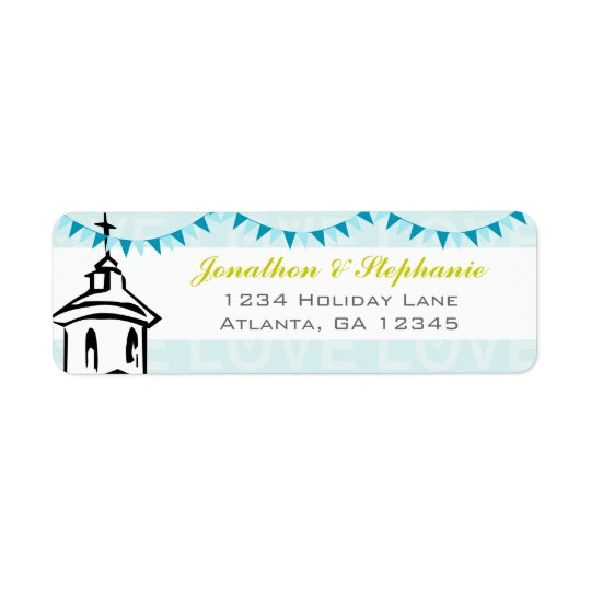 Modern Going to the Chapel Wedding Labels